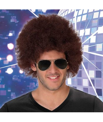 Curly Hair Wig Afro Brown...
